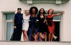 The Spice Girls Candid Group Portrait Vintage Original Photograph