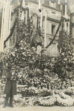 The Statue of Joan of Arc in Paris, 1927 - Silver Gelatin B and W Photograph