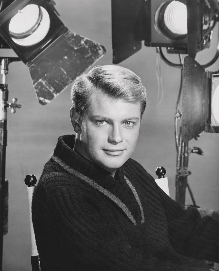 Unknown Black and White Photograph - Troy Donahue Behind the Scenes Fine Art Print