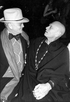 Truman Capote and Yul Brynner at Studio 54 Fine Art Print
