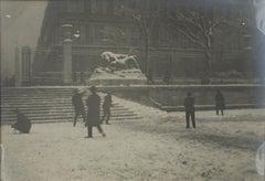 Tuileries Garden in Paris under the Snow 1926 - Silver Gelatin B & W Photograph