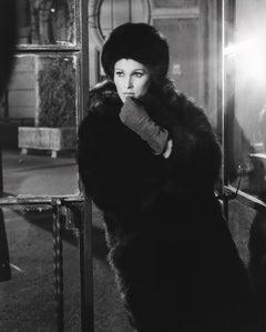 Ursula Andress Dramatic Portrait in Fur Fine Art Print