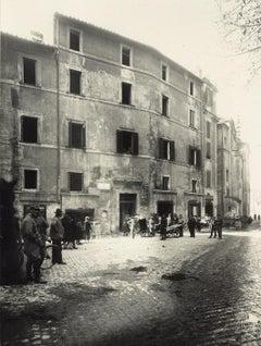Via di Monte Savello - Disappeared Rome - Vintage Photo 1920s