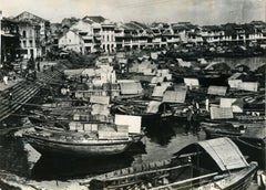 View of the Ancient Port of Singapore - Vintage Photo 1930s