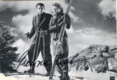Vintage Autographed Postcard by Gregory Peck - 1950s