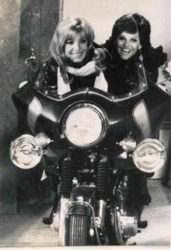 Vintage Portait of M. Vitti and C. Cardinale - Vintage B/W photo by ANSA - 1960s