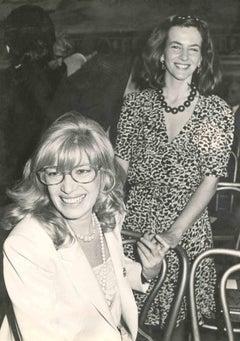 Vintage Portrait of Monica Vitti along with Giuliana De Sio by ANSA - 1980s