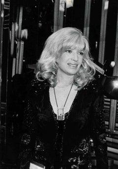Vintage Portrait of Monica Vitti - Black and White Photo - 1970s