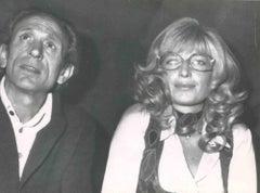 Vintage Portrait of Monica Vitti - Vintage B/W photo - 1970s