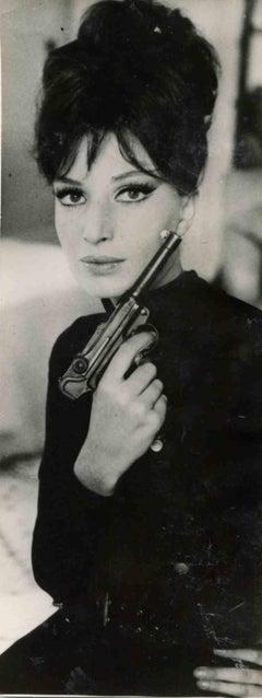 Vintage Portrait of Monica Vitti - Vintage B/W photo by ANSA - 1960s