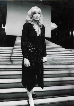 Vintage Portrait of Monica Vitti - Vintage b/w Photo - End of 1970s