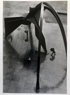 Vintage Silver Gelatin Photograph Alexander Calder Sculpture Photo, Chicago
