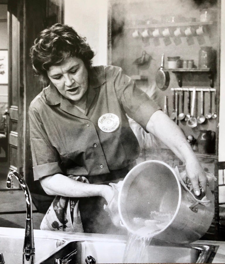 Vintage Silver Gelatin Photograph Print Chef Julia Child Photo from Archive  For Sale 1