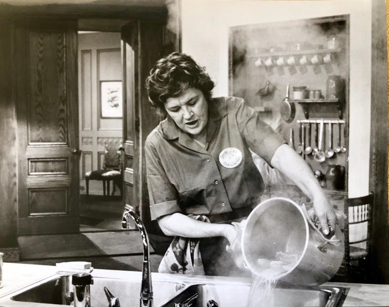 Vintage Silver Gelatin Photograph Print Chef Julia Child Photo from Archive  For Sale 2