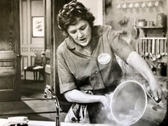 Vintage Silver Gelatin Photograph Print Chef Julia Child Photo from Archive