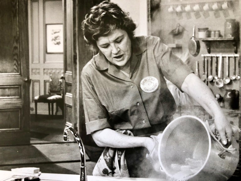 Unknown Black and White Photograph - Vintage Silver Gelatin Photograph Print Chef Julia Child Photo from Archive