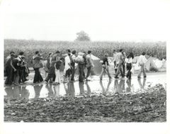 Walking to Woodstock Vintage Original Photograph
