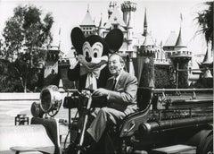 "Walter ""Walt"" Disney and Mickey Mouse in Disneyland - Original Press"