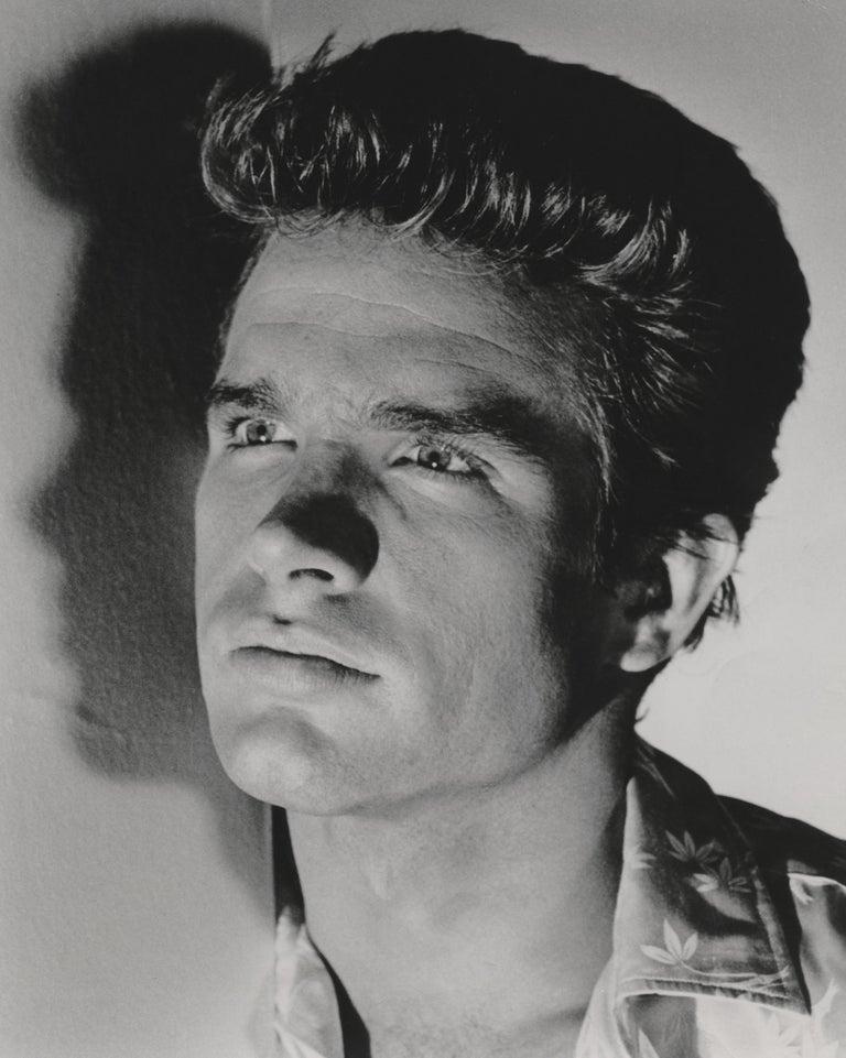 Unknown Black and White Photograph - Warren Beatty Dramatic Portrait Fine Art Print