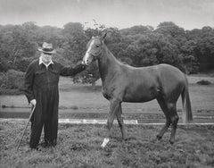 Winston Churchill with Horse Globe Photos Fine Art Print