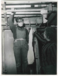 Women at Work - Historical Photograph About Women Rights - 1965