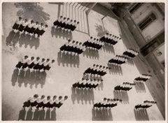 Women in Uniform in Lines - Vintage B/W photo - 1930s