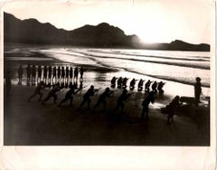 Women's Military Exercises in China - Vintage B/W photo - 1973
