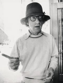 Woody Allen Candid in Hat Fine Art Print