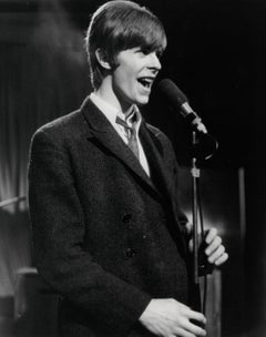 Young David Bowie Singing on Stage Vintage Original Photograph