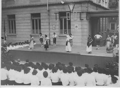 Young Girls in a Show During Fascism - Vintage b/w Photo - 1930s