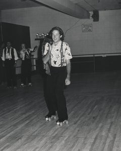 Young Robin Williams Roller Skating Fine Art Print