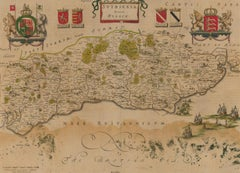 1648 Engraving - Johannes Blaeu's Map of Sussex