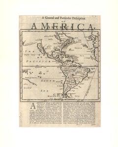 1701 Western Hemisphere Map with California as an Island
