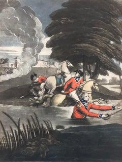 18th Century Royal Military Mezzotint The Miraculous Escape of The Duke of York