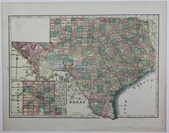 1909 Double-Sided Map of Texas and Oklahoma by The George F. Cram Company