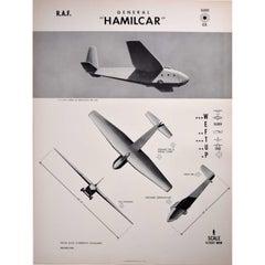 "1942 General ""HAMILCAR"" aeroplane recognition poster World War II Navy"