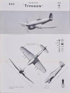1943 Air Force aeroplane identification poster US Naval Aviation Training Divisn