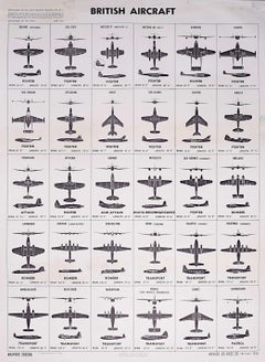 1953 Cold War British Aircraft poster US Government Identification Aeroplanes