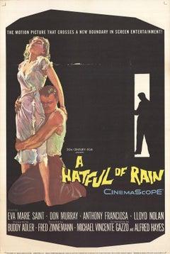 1957 Unknown 'A Hatful of Rain' Black Offset Lithograph