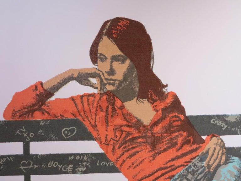 1970's Hippie Girl Pop Art screen print  For Sale 1