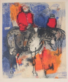 1970's Lithograph of a Figure on Horseback