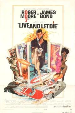 1973 Unknown 'James Bond-Live and Let Die' Vintage Multicolor,White USA
