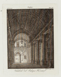19th Century Interiors of Palazzo Farnese - Rome - Early 19th Century