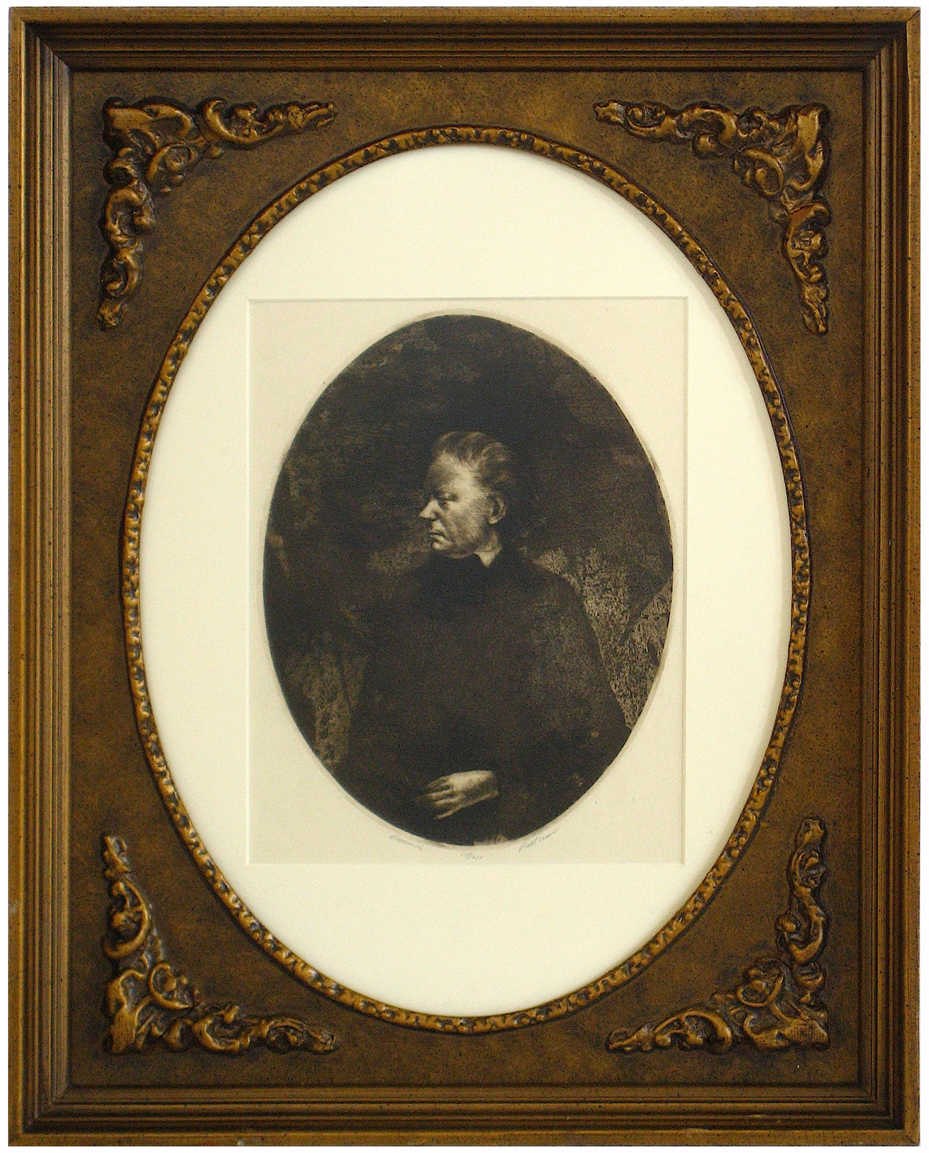 20th Century Etching of a Classic Side Profile Portrait
