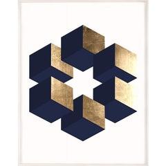 Abacus No. 2, gold leaf, framed