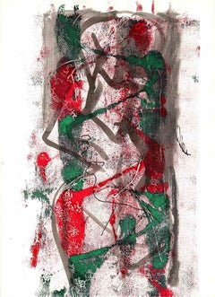 Abstract Composition - Original Lithograph - 1970s