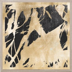 Abstract Flames no. 2, gold leaf, framed