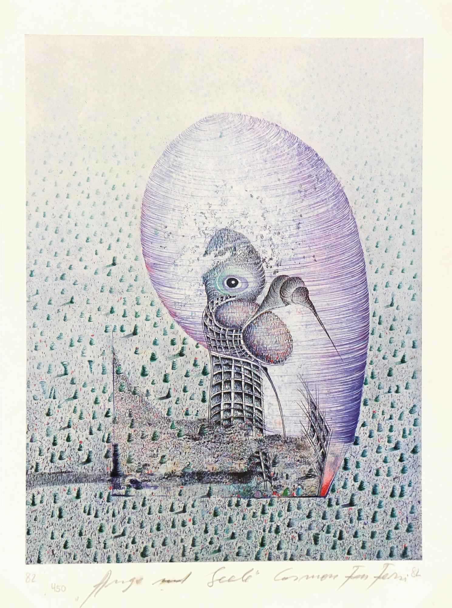 Abstract - Surrealist Lithograph