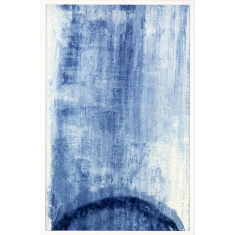 Unknown Abstract Print - Abstracted Landscapes, blue no. 8, unframed
