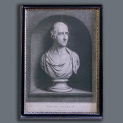 After A Bust by J. Nollekins, 19th Century Mezzotint of The Marquess Wellesley